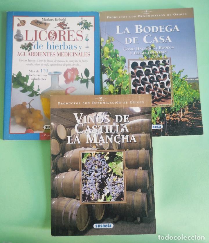 LIBROS DE ENOLOGIA . BODEGA,VINOS Y LICORES . PAPEL COUCHÉ . 3 LIBROS . BUEN ESTADO (Libros Nuevos - Ocio - Vinos)