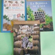 Libros: LIBROS DE ENOLOGIA . BODEGA,VINOS Y LICORES . PAPEL COUCHÉ . 3 LIBROS . BUEN ESTADO. Lote 280583093