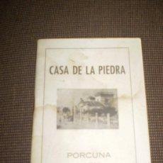 Libros: LA CASA DE LA PIEDRA PORCUNA JAEN.. Lote 23071773