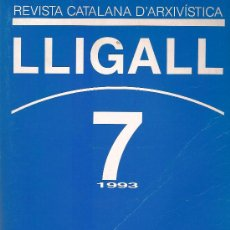 Libros: REVISTA CATALANA D'ARXIVISTICA Nº 7 AÑO 1993. Lote 14723536
