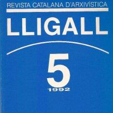 Libros: REVISTA CATALANA D'ARXIVISTICA Nº 5 AÑO 1992. Lote 15024478