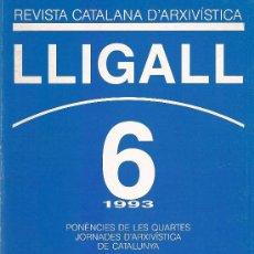 Libros: REVISTA CATALANA D'ARXIVISTICA Nº 6 AÑO 1993. Lote 15086476