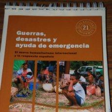 Libros: GUERRAS, DESASTRES Y AYUDA DE EMERGENCIA.JOSE ANTONIO SANAHUJA. INTERMON OXFAM. 1ª EDICION. Lote 27112243