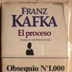 Libros: FRANZ KAFKA / EL PROCESO / CARTA AL PADRE / ESPECIAL Nº 1000 DE BRUGUERA / LIBRO AMIGO (D-1053). Lote 35782737
