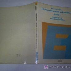 Libros: TÉCNICA DEL MANDO AUTOMÁTICO TOMO 1 INICIACIÓN AL MANDO NEUMÁTICO FORMACIÓN FESTO 1977 RM43515. Lote 20774881