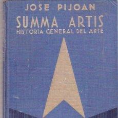 Libros: LIBRO - SUMMA ARTIS - JOSE PIJOAN - HISTORIA GENERAL DEL ARTE - VOLUMEN VI - ESPASA CALPE. Lote 25375411