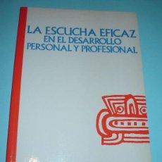 Libros: LIBRO. LA ESCUCHA EFICAZ EN EL DESARROLLO PERSONAL Y PROFESIONAL. M.BURLEY ALLEN. Lote 27949092
