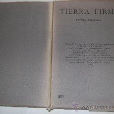 Libros: TIERRA FIRME Nº 4. REVISTA TRIMESTRAL. A.A.V.V. RM30866. Lote 29214613
