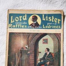 Libros: RAFFLES EL REY DE LOS LADRONES. Nº 20. EL AMO ROJO. EDITORIAL ATLANTE. Lote 32009412