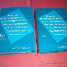 Libros: LUIS CHACON ORTEGA.- MANUAL DE PROCEDIMIENTO Y FORMULARIOS DE BIENES,DERECHOS Y ACCIONES AYUNTAMIENT. Lote 32462252