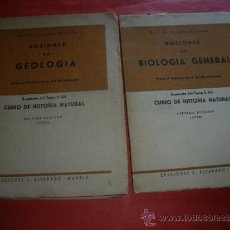 Libros: DR. SALUSTIO ALVARADO.- NOCIONES DE GEOLOGIA Y NOCIONES DE BIOLOGIA GENERAL.. Lote 32613154