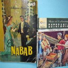 Libros: LOTE DE 2 LIBROS. EL NABAB (ALFONSO DAUDET) + REGALO CÓDIGO DEL OESTE . ESTFANIA. MARCIAL LAFUENTE. Lote 32750171