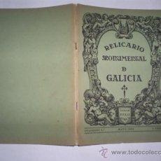 Libros: RELICARIO MONUMENTAL DE GALICIA. CUADERNO 3º. MARZO - 1932 JOSÉ CAO MOURE (DIR.) RM59311-V. Lote 33998500