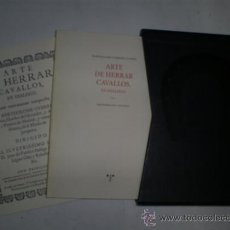 Libros: RM59351 ARTE DE HERRAR CAVALLOS, EN DIÁLOGO. FACSIMILAR DE LA DE 1694 CABALLOS - BARTOLOMÉ GUERRER. Lote 34033594