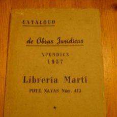 Libros: CATALOGO DE LIBROS LIBRERIA MARTI LA HABANA CUBA. Lote 36737598