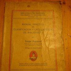 Libros: CATALOGO DE LIBROS Y CLASIFICACIÓN LA HABANA CUBA. Lote 36737606