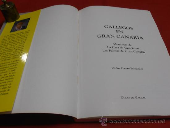Libros: GALLEGOS EN GRAN CANARIA, CARLOS PLATERO FERNÁNDEZ - Foto 5 - 36492423