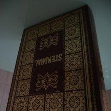 Libros: STENDHAL.- ROJO Y NEGRO + LA CARTUJA DE PALMA.- NAUTA 1968 ILUSTRA F. LLOVERAS SIMIL PIEL 856 PÁGIN. Lote 37162731