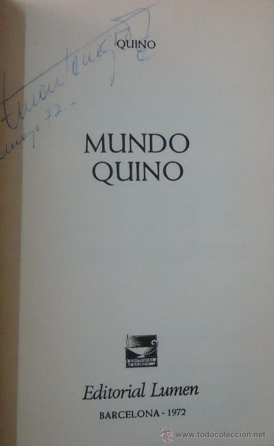 Libros: MUNDO QUINO. EDITORIAL LUMEN 1972. - Foto 2 - 38038794