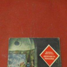 Libros: MONOGRAFIAS PROFESIONALES IX. LICENCIADO EN PEDAGOGÍA. FSCO SECADAS, Mª SAENZ DE SANTA Mª Y JUANA.. Lote 38532501