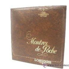 Libros: LONGINES LIBRO DE RELOJ DE BOLSILLOS, CATALOGO VINTAGE. Lote 39250425