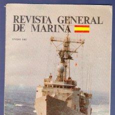 Libros: REVISTA GENERAL DE LA MARINA. TOMO 212. AÑO 1987. 146 PÁGS.. Lote 39429909