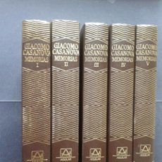 Libros: JOYA MAYOR, CASANOVA, MEMORIAS, 5 TOMOS, AGUILAR. Lote 40724634