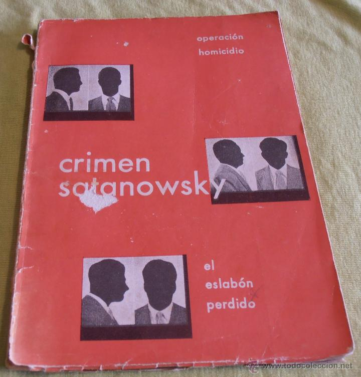 CRIMEN SATANOWSKY, OPERACION HOMICIDIOS (Libros sin clasificar)