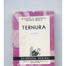 Libros: TERNURA - MISTRAL, GABRIELA. Lote 42121369