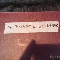 Libros: EJEMPLARES ENCUADERNADOS DEL DIARIO IDEAL...... 7-7-1970 AL 13-12-1970. Lote 43427634