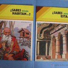 Libros: 2 LIBROS ¿SABES DÓNDE ESTÁ Y HABITAN ...? (NºS. 4 Y 6) ED. SUSAETA (1979) ¡ORIGINALES!. Lote 44740256