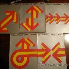 Libros: ANUARIO DE EL PAÍS .;AÑOS 1985-1986-1987-1989-1990. Lote 44848751
