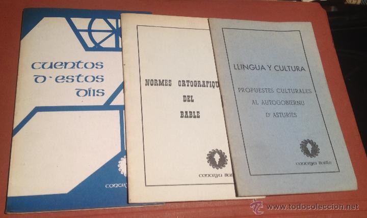 LIBROS EN BABLE CUENTOS DE ESTOS DÍIS NORMES ORTOGRAFIQUES DEL BABLE LLINGUA Y CULTURA (Libros sin clasificar)