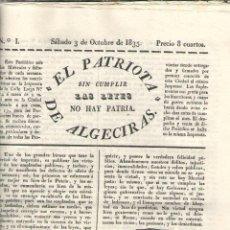 Libros: PERIODICO EL PATRIOTA DE ALGECIRAS SIN CUMPLIR LAS LEYES NO HAY PATRIA - VVAA. Lote 44560277