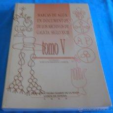 Bücher - MARCAS DE AGUA EN DOCUMENTOS DE LOS ARCHIVOS DE GALICIA SIGLO XVIII, TOMO V - 45581218
