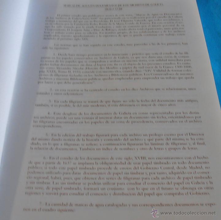 Libros: MARCAS DE AGUA EN DOCUMENTOS DE LOS ARCHIVOS DE GALICIA SIGLO XVIII, TOMO V - Foto 5 - 45581218