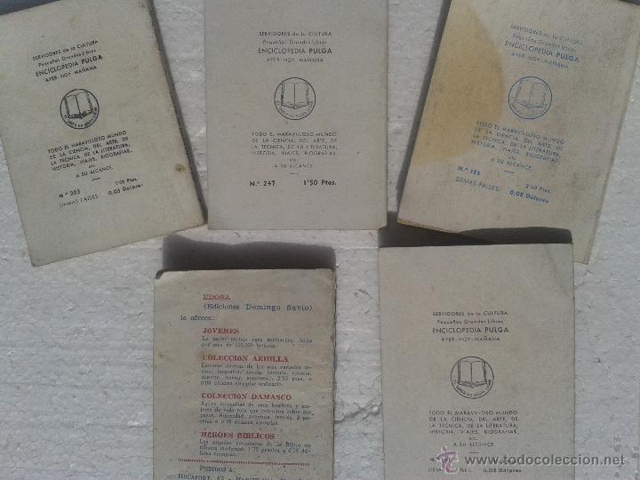 Libros: LOTE 7 ANTIGUOS MINILIBROS ENCICLOPEDIA PULGA Y ARDILLA - Foto 2 - 39903301