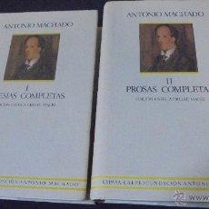 Libros: ANTONIO MACHADO - POESIAS COMPLETAS - PROSAS COMPLETAS - I Y II - ESPASA - CALPE... Lote 47848944