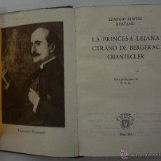 Libros: EDMOND EUGÈNE ROSTAND. CYRANO DE BERGERAC...ED. AGUILAR 1950. CRISOL 295. Lote 47993776