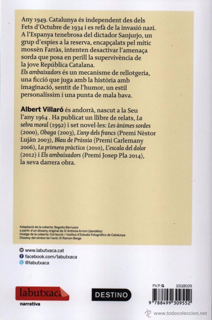 Libros: ELS AMBAIXADORS de ALBERT VILLARO - LABUTXACA, 2015 - Foto 2 - 88791388