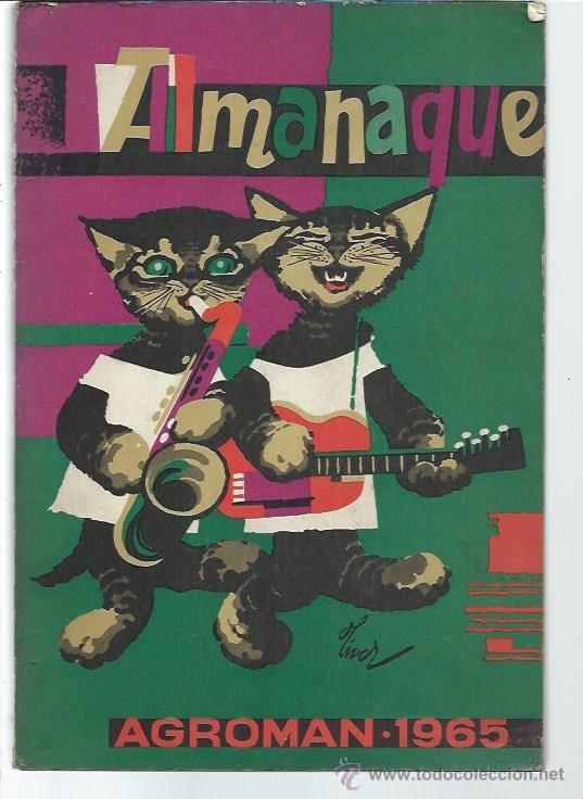 ALMANAQUE AGROMAN 1965, EMPRESA DE PUBLICIDAD STENTOR, 140 PÁGS, RÚSTICA, 17 POR 23CM, ILUSTRADO segunda mano