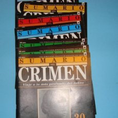 Libros: SUMARIO DEL CRIMEN. FASCÍCULOS DEL 30 AL 40. Lote 49592280