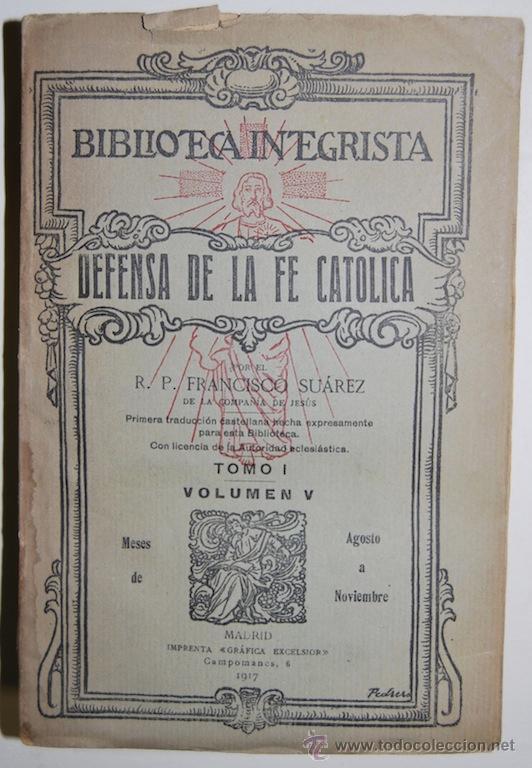 DEFENSA DE LA FE CATOLICA CONTRA LOS ERRORES DE LA IGLESIA ANGLICANA (Libros sin clasificar)