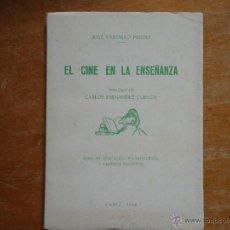 Libros: EL CINE EN LA ENSEÑANZA, CADIZ 1962 , JOSE VASSALLO PARODI. Lote 50185465