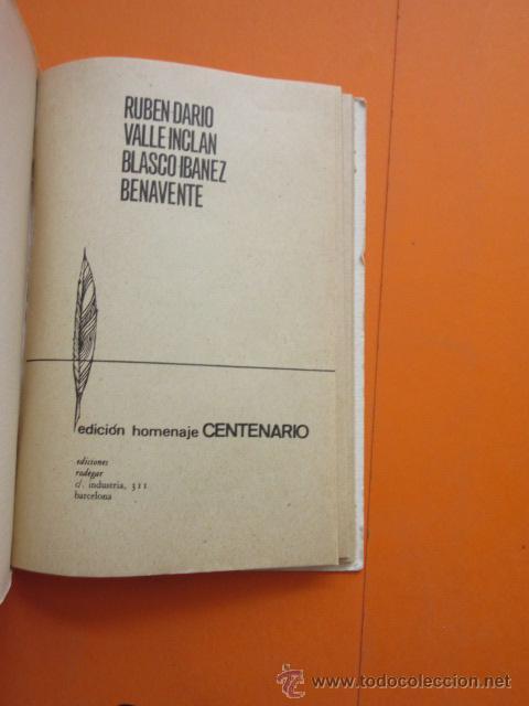 Libros: RUBEN DARIO VALLE INCLAN - BLASCO IBAÑEZ - 1967 EDICION HOMENAJE CENTENARIO J. COSTA CLAVELL - 62PAG - Foto 3 - 50238226