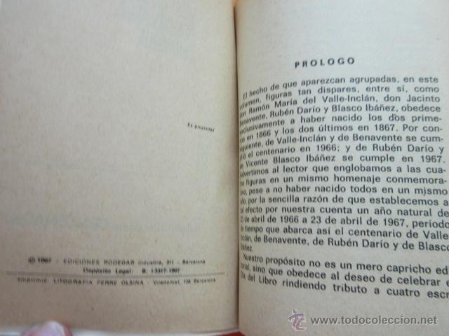 Libros: RUBEN DARIO VALLE INCLAN - BLASCO IBAÑEZ - 1967 EDICION HOMENAJE CENTENARIO J. COSTA CLAVELL - 62PAG - Foto 4 - 50238226