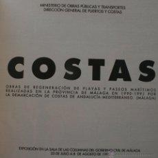 Libros: COSTAS , LIBRO SOBRE OBRAS Y REGENERACION DE PLAYAS Y PASEOS MARITIMOS DE MALAGA Y PROVINCIA. Lote 51228528