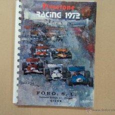 Libros: AGENDA - FIRESTONE - RACING 1972 - FORMULA 1- 1971. Lote 51372236