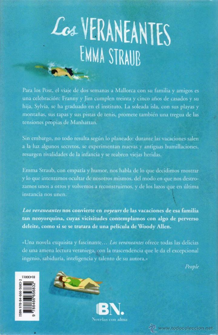 Libros: LOS VERANEANTES de EMMA STRAUB - EDICIONES B, 2015 - Foto 2 - 51623226