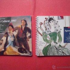 Libros: LIBROS.-AGENDA CULTURAL.-CIRCULO DE LECTORES.-GOYA.-FEDERICO GARCIA LORCA.-AÑOS 1997 Y 1998.. Lote 51676567